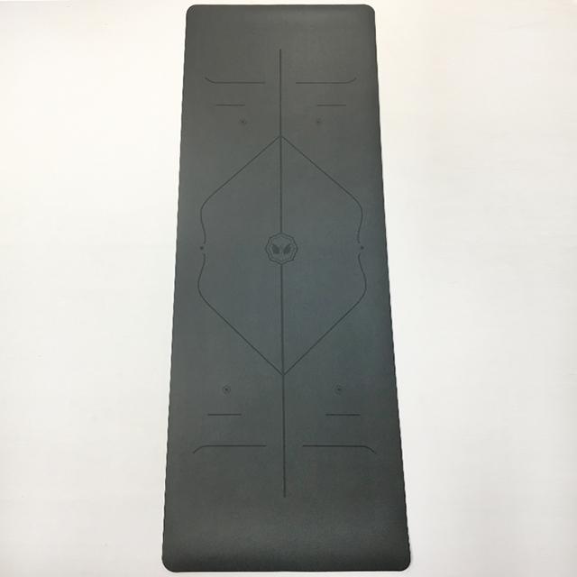 PU yoga mat gray